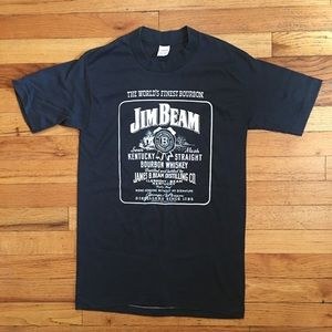 Vintage Single Stitch Jim Beam Graphic Tee M